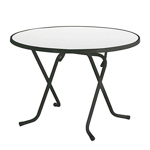 BEST 26528050 Schernklapptisch Primo rund, Durchmesser 80 cm, anthrazit