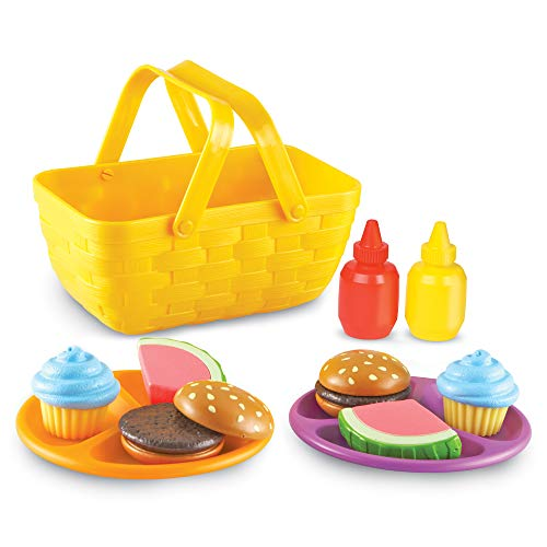 Learning Resources New Sprouts Picnic Set Toddler Outdoor Toys Pretent Play Food Ages 18 mos