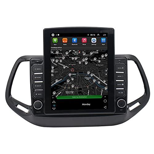 BANNESE Android Multimedia Coche Radio Android 9.1 Navegador GPS 1GB + 16GB con Carplay/DSP / 4G WiFi, FM Receptor De Radio 1024 * 600 Pantalla Táctil,para Jeep Compass Navegador