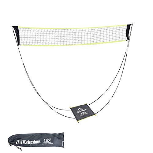 Filet de badminton portable pour le jardin et le support, sac de transport, filet de volleyball pour l'intérieur et l'extérieur, sports de plage (jaune)