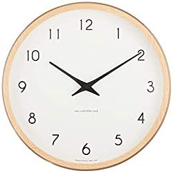 Lemnos Campagne radio clock Natural PC10-24W NT (Japan model, Japanese language only)