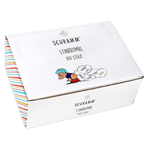 Schramm® 100 Stück Stinkbomben Furzbomben Stink Bombe Fart Bag Scherzartikel Pupsbomben Scherz Artikel 100er Pack