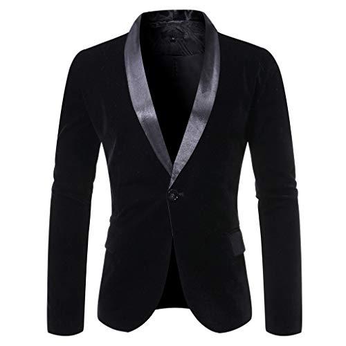 Longra Abito da Uomo Casual in Velluto Uomo Slim Fit Floral Prints Stylish Blazer Coats Chic Jackets Classico Blazer Uomo Tailleur Giacca Slim Fit Ele