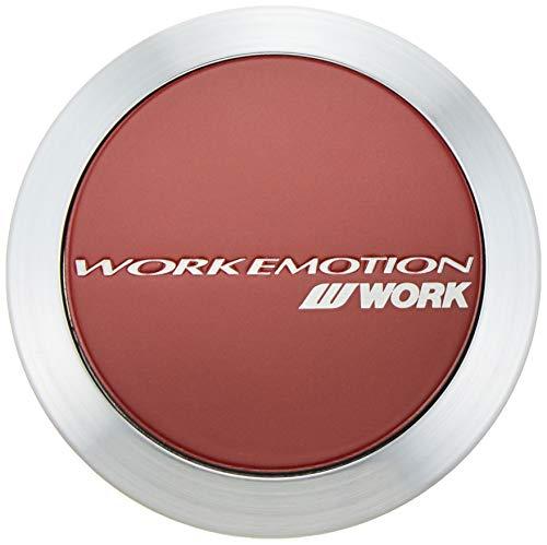 Work EMOTION (emotion) center cap FLAT TYPE Red 4 pieces 120219