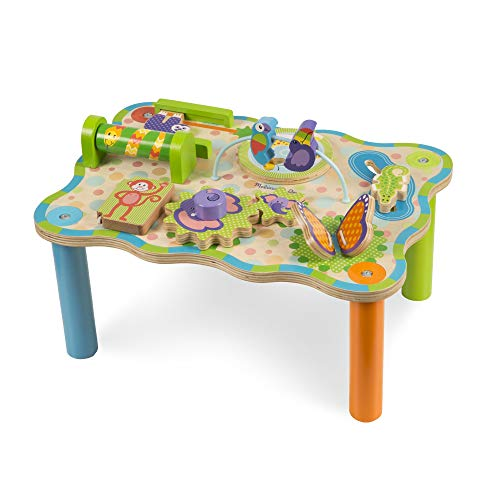 Melissa & Doug First Play Jungle Wooden Activity Table (Sturdy Wooden Construction, Great Gift for Girls and Boys - Best for Babies and Toddlers, 12 Month Olds, 1 and 2 Year Olds)