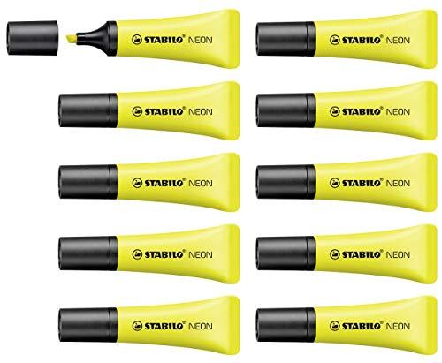 Marcador fluorescente STABILO NEON - Cuerpo semiblando - Caj