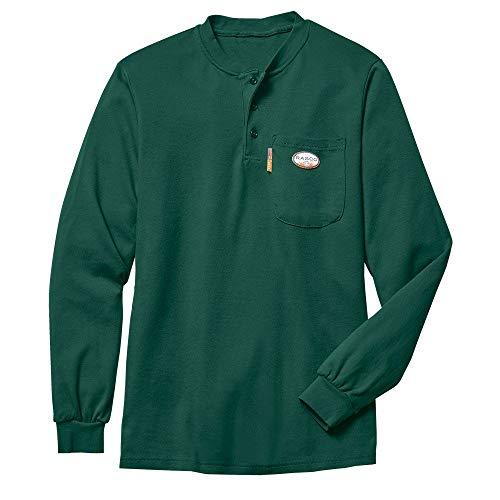 Rasco FR Men's Green Henley T-Shirt