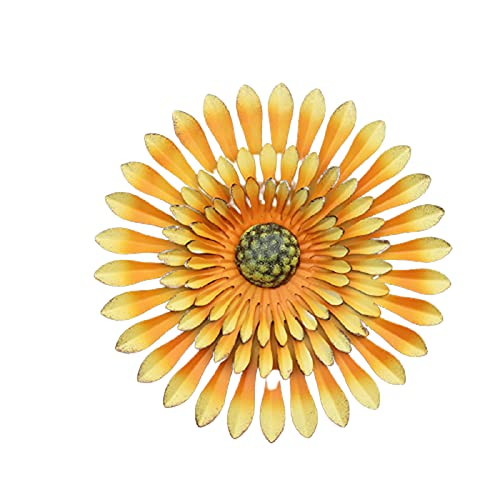 VELIHOME Ornamento de girassol, flor, ferrovia, pátio, jardim, quarto, portico, corredor ou escultura de parede, 30 x 5 (cm) Layout Wall Decorative Pendant