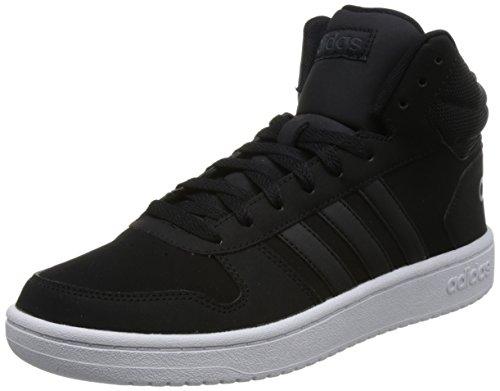 adidas Hoops 2.0 Mid, Zapatos de Baloncesto Hombre, Negro (Core Black/Core Black/Carbon S18 Core Black/Core Black/Carbon S18), 43 1/3 EU