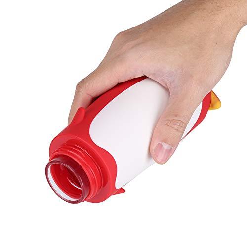 Socobeta Seguro de usar, botella de agua de cristal, sin fugas, taza de doble capa (rojo)