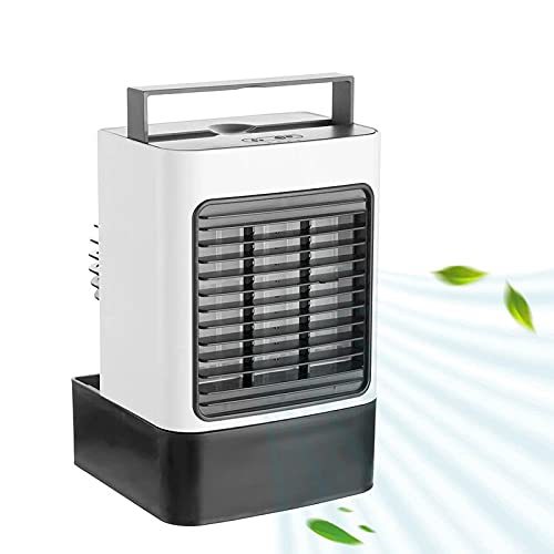 GFRYY Portable Air Conditioner Fan, Evaporative Personal Air Cooler, Multifunction Quiet USB Cooling Fan with 3 Speed & LED Night Light, for Room Home Office Dorm