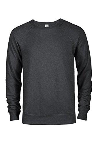 Casual Garb Men's Crew Neck Sweatshirts French Terry Crewneck Sweatshirt for Men Charcoal Heather XX-Large