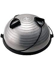 Z ZELUS Yoga Hemisphere Ball 58cm Balance Ball Fitness Balance Trainer Evenwichtstrainer Gymnastiekbal Trampoline Bal Fitness Evenwicht Bal Gymnastiekbal Met Trekkoord voor Krachttraining Evenwichtstraining