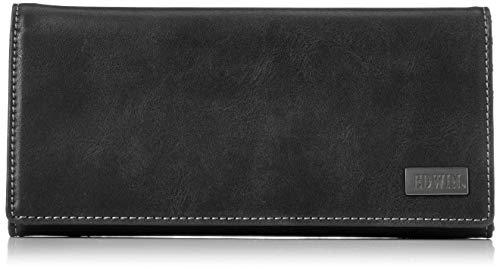 [エドウィン] 財布 ダークメタルプレート 小銭収納 紙幣収納 カードポケット 60.ブラック