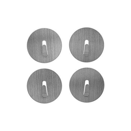 Magnethaken MINI-SPOT Ø 4cm, extra stark, verschieden Farben - 4er Set - für den alltäglichen Gebrauch, Farben:Edelstahl