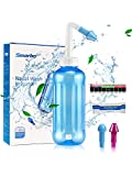 Neti Pot,Neti Pot Sinus Rinse 500ML Neti-Pot with Nasal Wash Salt Packets and Sticker Thermometer Nose Cleaner Washing Bottle Cleaner Pressure Irrigation for Adult & Kid BPA Free