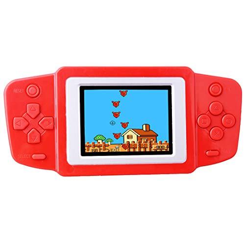 ZHISHAN Console di Gioco Portatile retrò per Bambini Precaricata con 218 Videogiochi Classici Sistema Arcade Ricaricabile con Display 2,5 Pollici Controller di Gioco (Rosso)