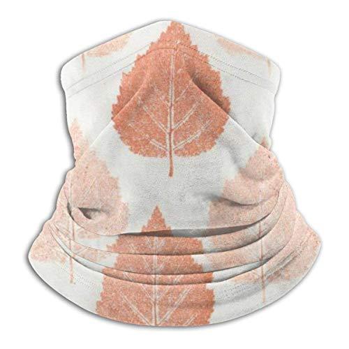 LREFON Pañuelo de Cuello con patrón de Venas de Hojas Naranjas, pasamontañas para Hombres, Mujeres, protección contra el Polvo del Viento y el Sol