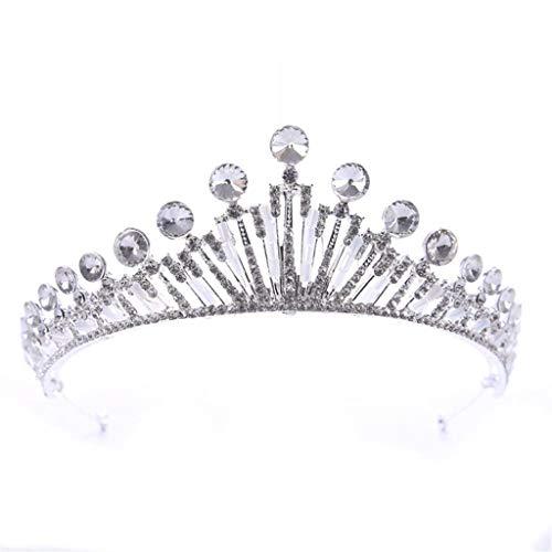 YWSZJ Navidad de Cristal de la Princesa de la Tiara con el Peine de la joyería del Partido de Cosplay Mujeres Niñas Nupcial Pelo de la Boda Diadema de Plata