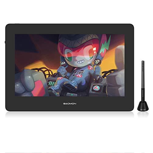GAOMON PD1220 11,6 Tableta con Pantalla con 1920*1080 Resolución Pantalla Laminada Completa y 8192 Niveles Presión Sin Batería Compatible con Android, Win y Mac OS