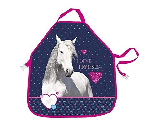 Theonoi Horses -kinderen kookschort keukenschort schort kit Eva waterdicht schilderschort knutselkittel bescherming voor kleding geweldig cadeau - paard