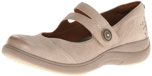 Aravon Women's Revshow Mary Jane Flat,Taupe,10 B US