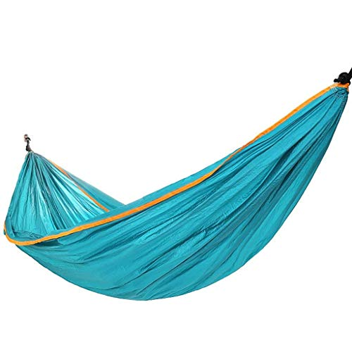 Hamacas, al Aire Libre Hamaca Doble de los Hombres y Mujeres viajan el Ocio portátil Hamaca excursión de Camping XYXG (Color : As Shown, Size : Free)