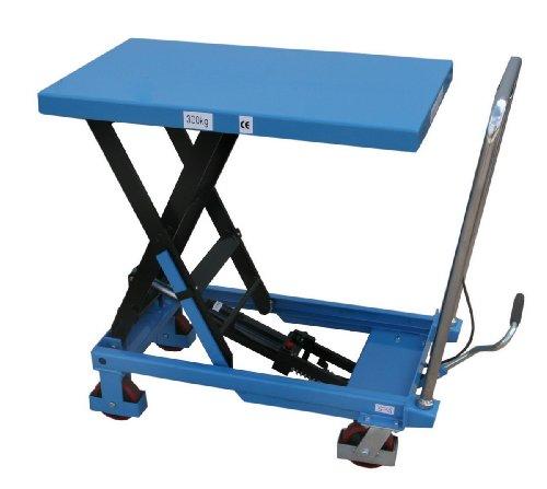 HanseLifter SPA300 mobiler Hubtisch mit 300kg Tragfähigkeit und 900mm Hubhöhe, Lichtblau