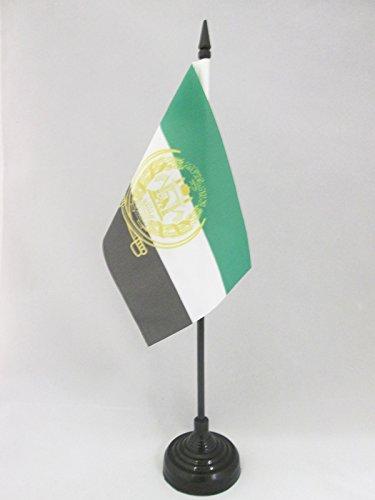 AZ FLAG TISCHFLAGGE Afghanistan ALT 2001-2002 15x10cm - AFGHANISCHE TISCHFAHNE 10 x 15 cm - flaggen