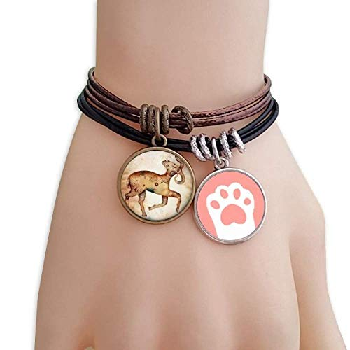 DIYthinker Womens maart april Ram sterrenbeeld dierenriem katten armband lederen touw polsband paar set