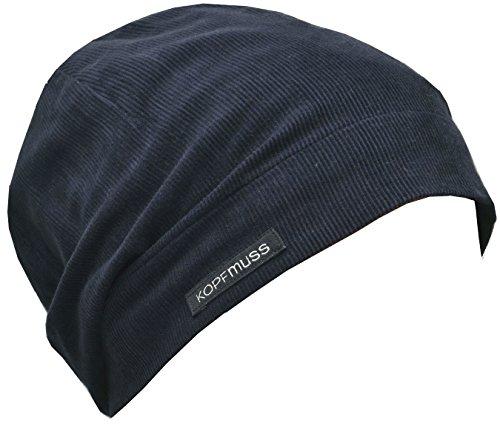 Kopfmuss - Unisex Ungefütterte Cordmütze Blaubeerblau XL