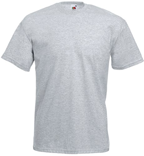 Fruit of the Loom SS003M, T-Shirt Homme, Grigio (Heather Grey) X-Large
