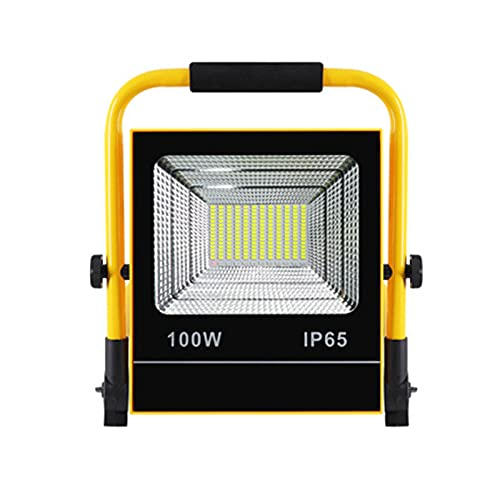 Foco De Trabajo LED Exterior Portátil Solar Recargable Con Panel Solar Luz De Trabajo LED USB Recargable, Powerbank 4 ModosImpermeable Luz De Emergencia Para Acampar Viaje Camping (Size : 100w)