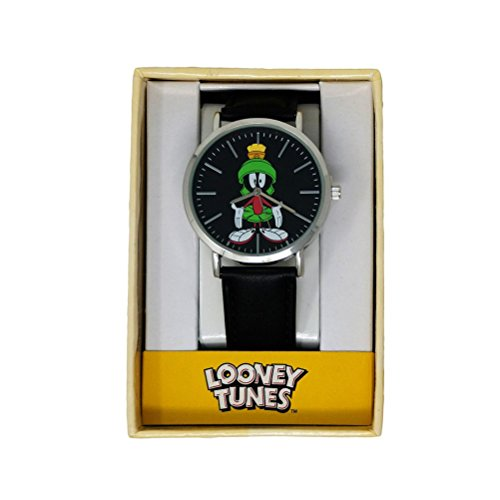 Official Looney Tunes Marvin the Martian Black Strap Wristwatch