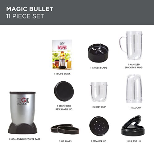 NUTRiBULLET Magic Bullet Blender, Mixer & Food Processor, 11 piece set