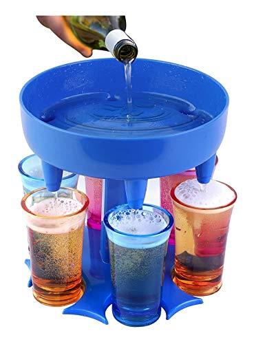 6 Dispensador y soporte de vidrio de dispensadores de vidrio para llenado de líquidos para la barra de fiesta interior al aire libre Juegos de bebidas de cóctel Dispensador de vino / Bar Dispensador d