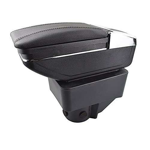 LZYY Apoyabrazos para Coche para Ford Fiesta 2011-2019 Contenido reposabrazos Caja de Almacenamiento de Doble Capa decoración Estilo de Coche Nuevo Caja de reposabrazos de Coche (Color : B)