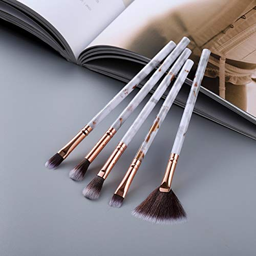 5/15 makeup brush set makeup powder eye shadow foundation blush mixed beauty makeup Kabuki brush tool - Eye 5pcs gold