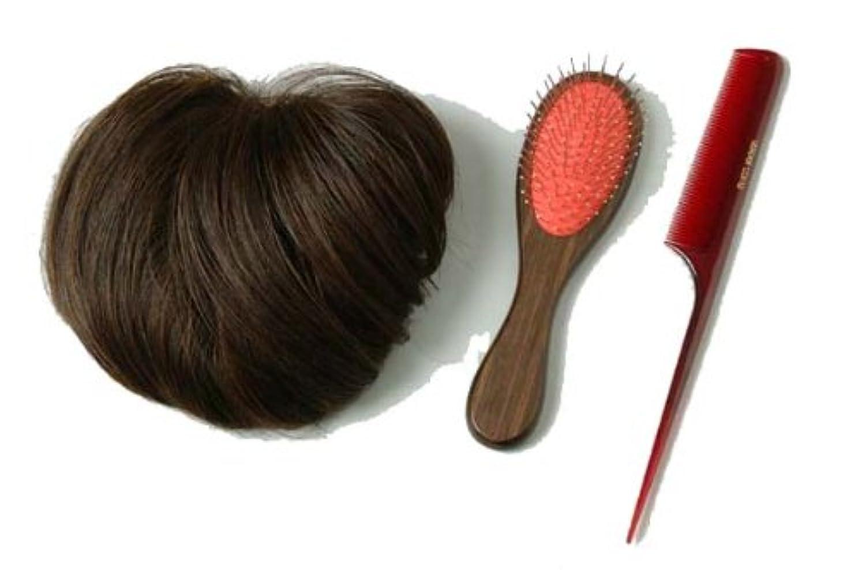 移植クロス新しい意味装いヘアピース ブラウン