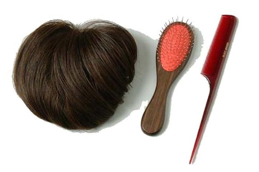 一回縫うヘロイン装いヘアピース ブラウン