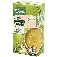 Knorr Las Clásicas Crema Ligeresa Zanahoria y Puerro - Pack de 6 x 500 ml (Total: 3000 ml)