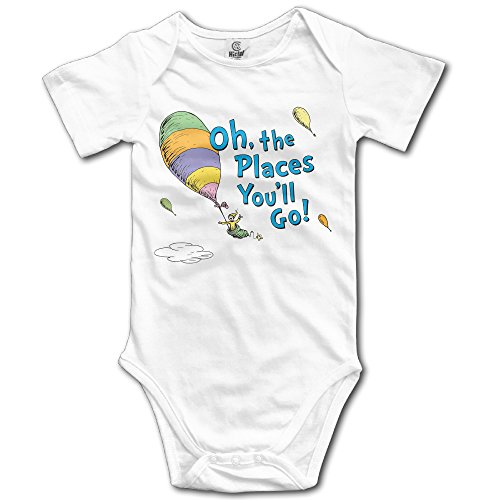 Siuwud Oh, The Places You'll Go! Baby Onesie Toddler-Bodysuits White (6 Months)