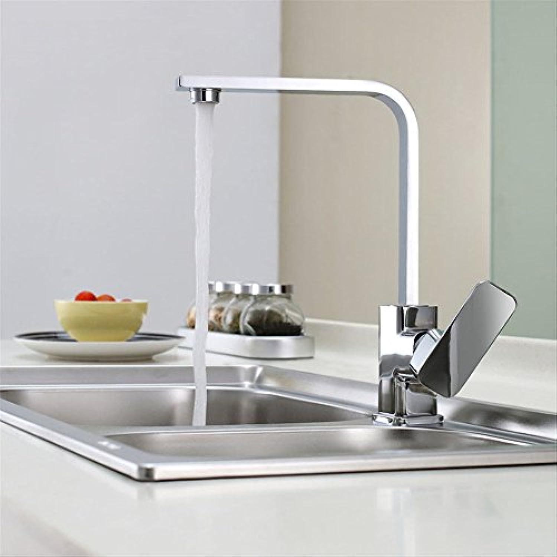ETERNAL QUALITY Badezimmer Waschbecken Wasserhahn Messing Hahn Waschraum Mischer Mischbatterie Tippen Sie auf die besonders dicken Kupfer Küche Wasserhahn warmes und kalt