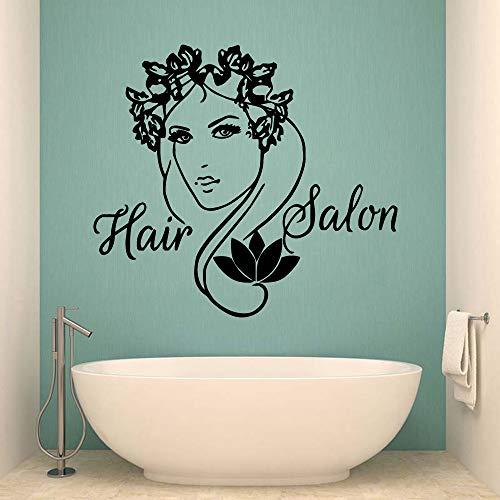 TYLPK Barber Shop Wall Dekorative Wandaufkleber Vinyl-Wandaufkleber Abnehmbare Dekorative Wandtattoos Gelb L 58 cm X 64 cm