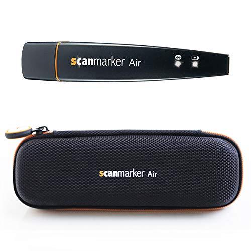 Scanmarker Air & Case Bundle | Marcador digital OCR y bolígrafo de lectura | Inalámbrico | Texto a voz | Multilingüe | Traducción de idiomas | Compatible con Mac, Windows, iOS, Android | Negro