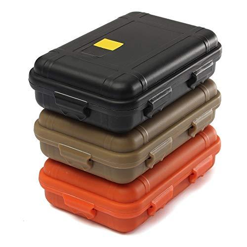 CFDYKRP 1 stück Tragbare Outdoor Anti-Druck Stoßdämpfe wasserdichte Luftdichte Survival Storage Container Container Kasten (Color : Mud, Size : Small)