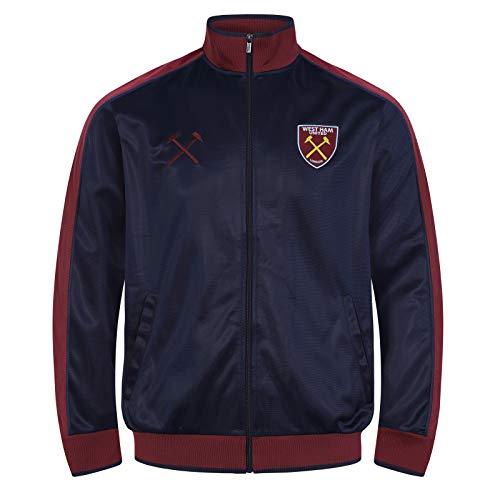 West Ham United FC - Herren Trainingsjacke im Retro-Design - Offizielles Merchandise - Geschenk für Fußballfans - XXL