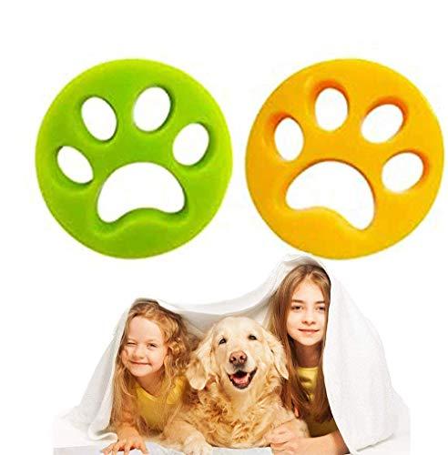 Removedor de pelo de mascotas reutilizable para lavadora, recogedor de pelo pegajoso, bola de limpieza flotante para ropa de lavandería, ropa de cama, 2 unidades (removedor de pelo de mascota)