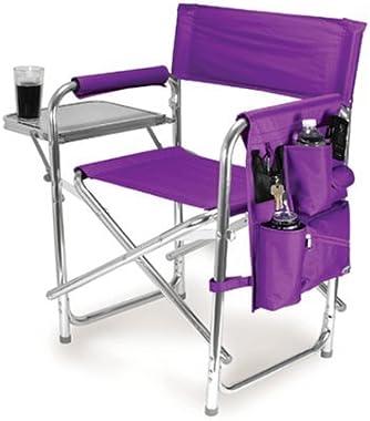Graphic Image Aluminum Sports Chair, Purple