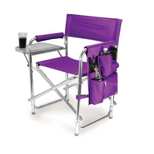 Graphic Image Aluminum Sports Chair, Purple